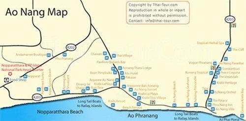 Aonang Map